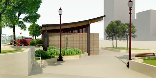 Portsmouth Square Restroom Renovation Rendering Side View