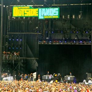 Large crowd and stage at Outside Lands festival