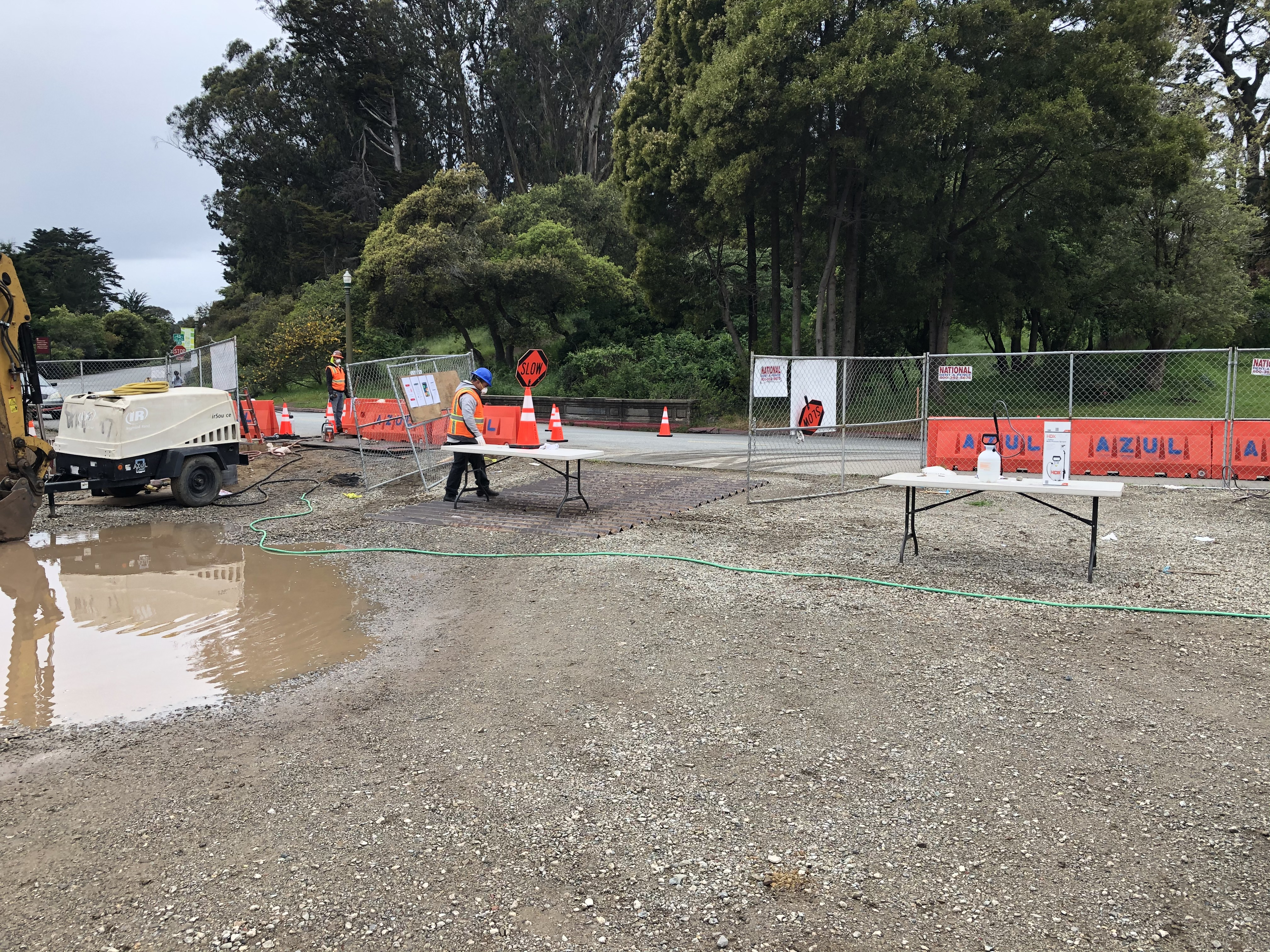 Golden Gate Park Tennis Center Construction June 2020
