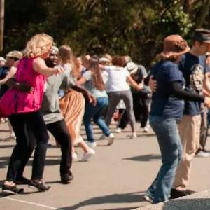 People dancing in the park