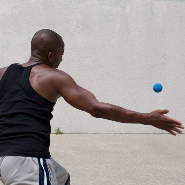 Man playing handball